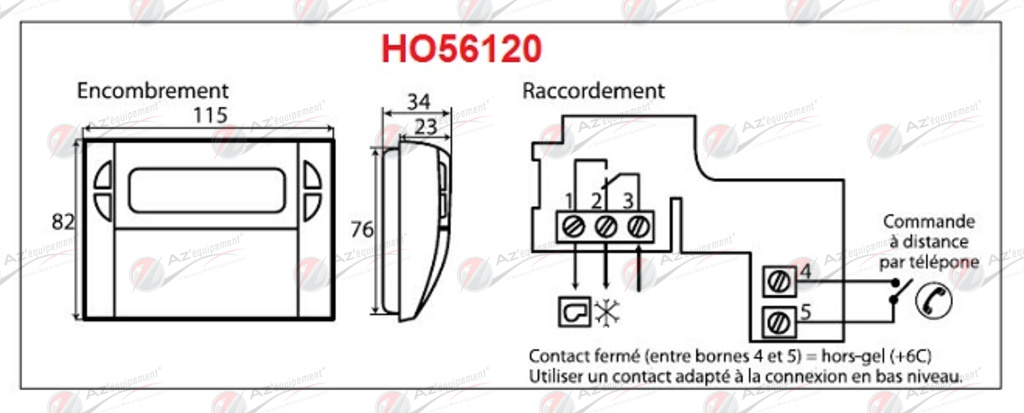 Horloge thermostat thermoflash digi 2 flash ho56120 sp cialiste en mat riels agroalimentaire - Thermoflash digi 2 ...