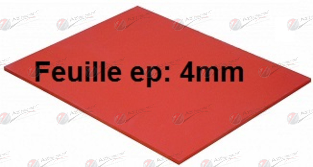 feuille silicone haute temp rature 4mm fsil4 pieces detach es pour materiel boulangerie. Black Bedroom Furniture Sets. Home Design Ideas