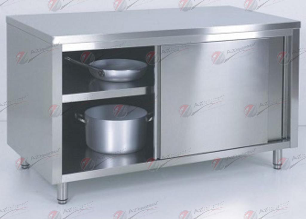 Meuble bas portes coulissantes distrib 39 inox az mbcc pieces detach es pour materiel boulangerie - Porte coulissante pour meuble bas ...